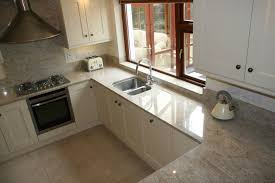 granite countertop grey kitchen white worktop easiest way to