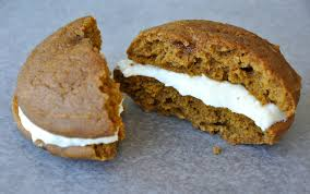 pumpkin whoopie pies with cheese frosting just a taste
