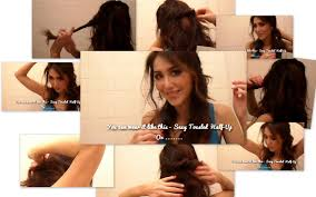 Hairstyles For Long Hair At Home Videos Youtube | collage youtube video hair tutorial easy half updos long wavy