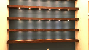 Lights For Bookshelves Build Wall To Wall Shelves With Recessed Lights Youtube
