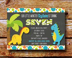 Invitation Cards Of Birthday Party Dinosaur Birthday Party Invitations Kawaiitheo Com