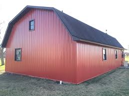 Gambrel Barn by Steel Siding U0026 Trim U2013 Gambrel Barn U2013 Sherwood Ohio Jeremykrill Com