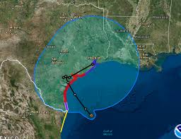 Weather Map Texas Hurricane Harvey Path Live Updates Hurricane Makes Landfall In