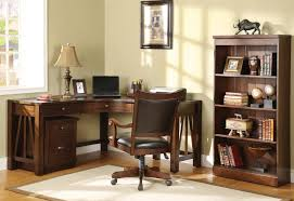 Home Office Desk With Storage by Old And Traditional L Shaped Oak Wood Home Office Corner Desk