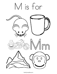 M Is For Coloring Page Twisty Noodle M Coloring Pages