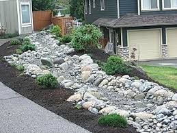 rock garden bed beautiful garden love the rock border rock garden