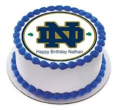 notre dame fighting irish edible cake topper u0026 cupcake toppers