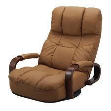 Recliner Swivel Chair Floor Reclining Swivel Chair 360 Degree Rotation Japanese Style