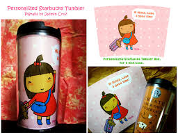 personalized starbucks tumbler by jazgirl on deviantart