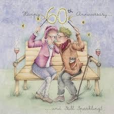 happy 60th anniversary a wedding anniversary card