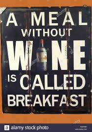 a meal without wine is called breakfast hydeaway bay queensland australia september 9 2017 a novelty