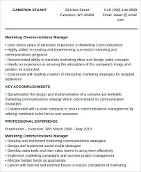 Marketing Communications Manager Resume Marketing Resume Download 42 Free Word Pdf Documents Download