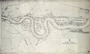 map of river thames london bridge to woolwich unknown royal