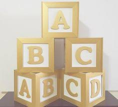 baby block centerpiece box set by sparemethedetails on etsy