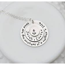necklace for mothers buy anchor jewelry personalized necklace anchor necklace