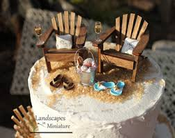 chair cake topper landscapes in miniature tiny beaches by landscapesnminiature