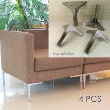 in sofa legs 12cm furniture metal table sofa leg cabinet feet satin stainless