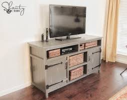rustic media center free diy plans consoles free and woodworking