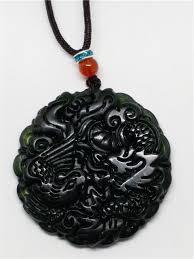 black jade necklace pendant images Natural chinese black green jadeite jade dragon pendant necklace jpg