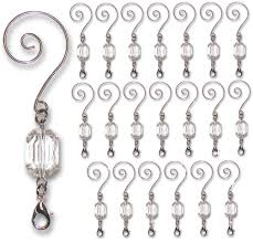 ornament hooks shiny silver chrome