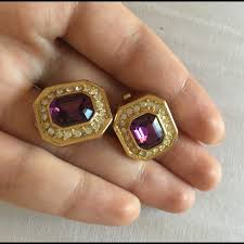 vintage earrings 64 christian jewelry vintage amethyst christian