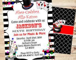magician invitation etsy