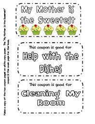 mothers day books free s day cupcake coupon book by mandy gregory tpt