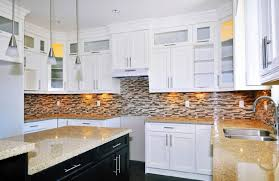 Traditional White Kitchens - white kitchen backsplash dark cabinets traditional white kitchen