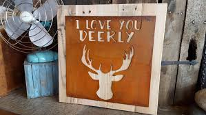 i love you deerly nursery decor rustic sign woodland nursery