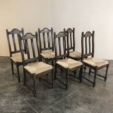 Rustic Oak Dining Tables Set Of 6 Antique Rustic Oak Seat Dining Chairs Inessa
