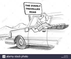 cartoon car drawing cartoon of a man driving a car and a sign that says u0027the overly