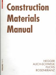 edition detail construction materials manual building