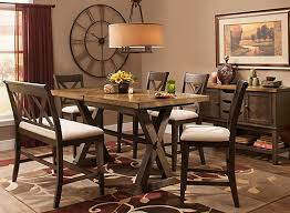Bench Dining Set Wexford 6 Pc Counter Height Dining Set W Bench Oak Brown