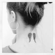 34 neck tattoos designs for wings designs