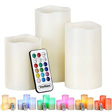 vonhaus electric candles 3 x flameless battery operated real wax