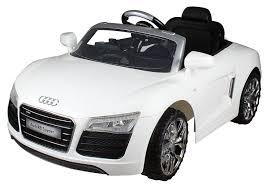 kid car audi r8 spyder white 12v kids electric car amazon co uk toys u0026 games