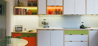 Kitchen Shelving Units by Birch Plywood Kitchen With Laminated Doors And Shelving Units Don
