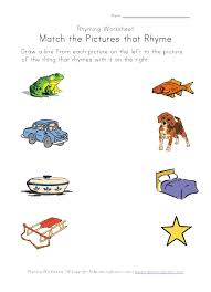 rhyming worksheets worksheets