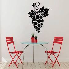 wall decals grapes floral design kitchen vinyl sticker murals wall