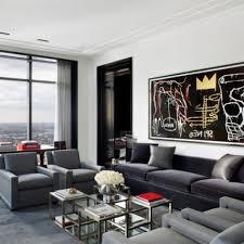 Wohnzimmerm El Weiss Grau Gemütliche Innenarchitektur Gemütliches Zuhause Moderne