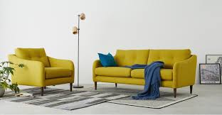 design by conran sofa content by terrence conran alban 3 seater sofa chartreuse made com