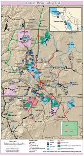 Klamath Falls Oregon Map by Best In The West Klamath Basin Birding Trails