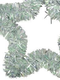 Seeking Tinsel Metallic Silver Hanging Decoration Tinsel 48cm Garlands