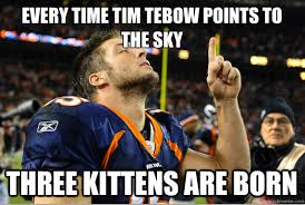 Tebow Meme - tim tebow to own two point conversions fantasy pajamas