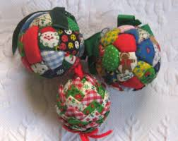 quilted ornaments etsy