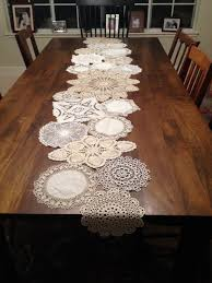 doily table runner for the home pinterest crochet craft and