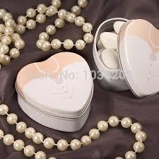 Heart Shaped Candy Boxes Wholesale Popular Candy Favor Hearts Boxes Metal Wedding Buy Cheap Candy