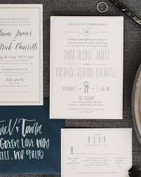 navy and white modern eclectic wedding invitations