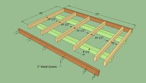 building shed floor modern decoration dahkero how to build lean on