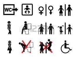 Bathroom Symbols The Funny Design Of Wc Restroom Symbols Royalty Free Cliparts